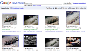 Tiananmen Google Finlandia